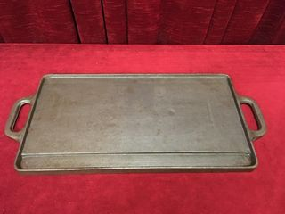 2 Sided Cast Iron Grill   16 5  x 9