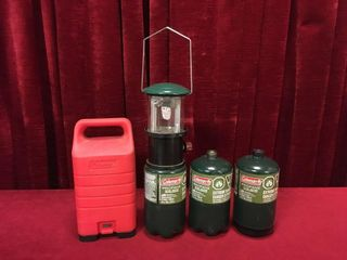 Coleman Tank Top lantern w  Case   Cans