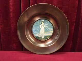 Brass Trafford 16 5  Oiligraph Plate  Pinkie