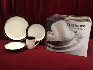 Cuisinart 16pc Stoneware Dinnerware Set   NIB