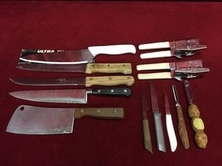 Various Knives  Peeler   Can Openers