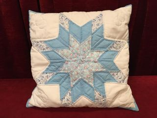 Hand Stitched Quilted Pillow   15  x 15