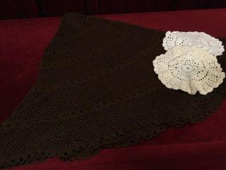 64  Crocheted Table Cloth   2 10  Doilies