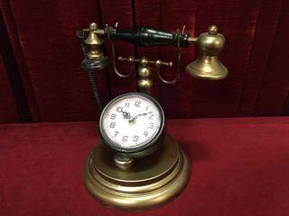 Folk Art Tin Phone Clock