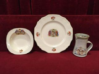 Royalty Bowl  Plate   Mug 1937 to 1981