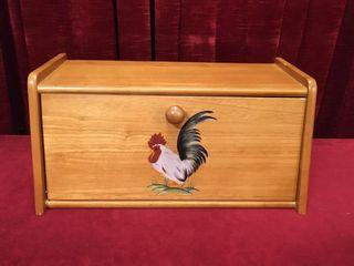 Wood Bread Box   16 5  x 8 5  x 8