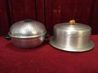 Retro Steamer   Pastry Plate w  Cover