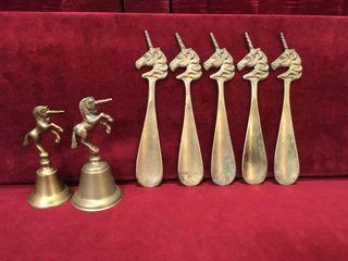 Brass Unicorn Bells   Shoehorns