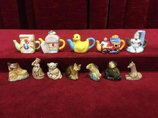 12 Vintage Tea Figures