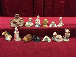 laughing Buddha Figure   12 Vintage Tea Figures