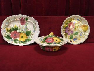 Solian Ware England Soho Pottery 3pc Serving Set