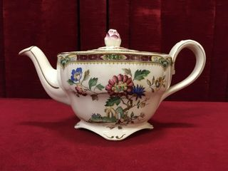 Marlborough Royal Petal Teapot   Grindley England