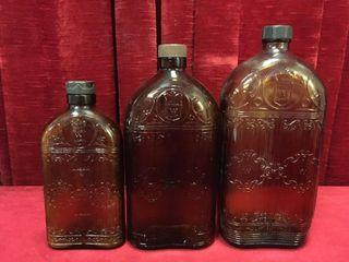 Vintage Hiram Walker Bottles 12  25   40ozs