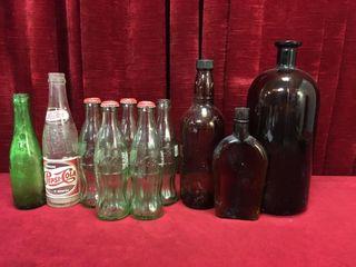 10 Vintage Bottles