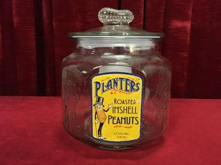 Planters 8 Side Embossed Canister