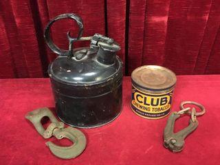 Vintage Cans  Hook   Fence Stretcher
