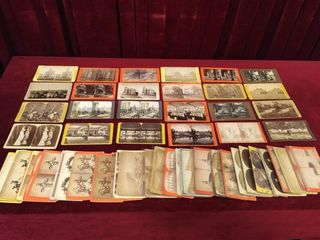 57 Rare Oversize Cabinet Stereo View Cards