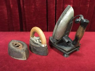 2 Antique Sad Irons   Vintage Electric Iron