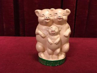 Cast Iron Three little Pigs Coin Bank