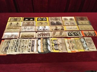 54 Antique Stereoscope Viewing Cards