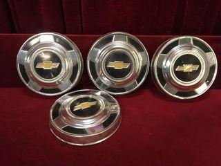 4 Vintage Chev Rim Center Caps