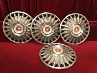 4 Vintage Ford Mustang Hubcaps