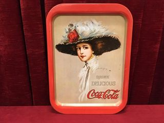 1909 Girl Coca Cola Tin Tray   1971   10 75  x 15