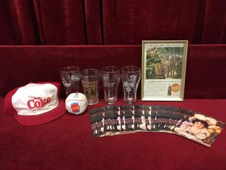 Coca Cola 1945 Ad  Glasses  Hat   More