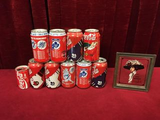 10 Coke Collector s Cans   6  x 6  Mirror