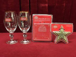 Stella Artois Glasses  Opener   Coaster