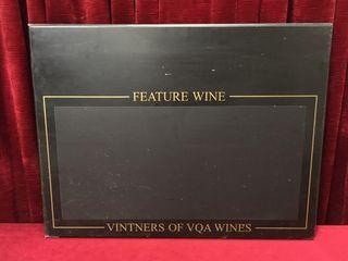 Restaurant Feature Wine Chalkboard   32  x 24 5