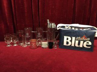 Bar Glasses  Mugs  Decanter   Cooler Bag