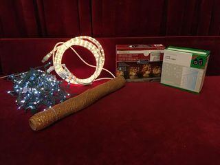 Christmas lights  Rope   Ribbon