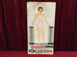 1940 50s Wabasso Cotton Woman s Store Poster