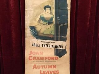 1956 Joan Crawford In Autumn leaves Theatre Poster