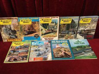 9 Model Train Magazines 1980 90s