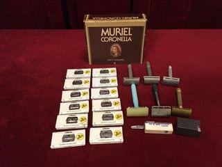 Cigar Box of NOS Blades   Vintage Razors