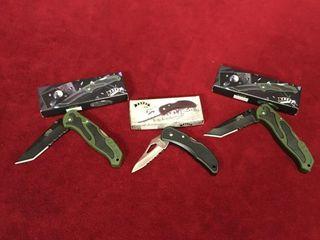 3 Frost Folding Pocket Knives   New