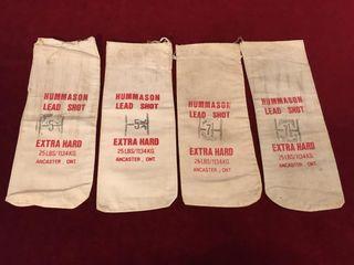 4 Hummason lead Shot Jute Bags   6  x 15
