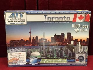 4 D Toronto Cityscape Time Puzzle   Sealed