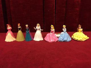 6 Disney Princess Figures   Cake Toppers