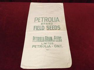 Petrolia Grain   Feeds Jute Bag   15  x 28