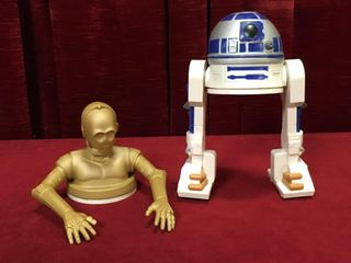 1997 C 3PO   R2D2 Drink Cup Toppers