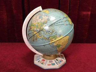 1960s J  Chein   Co 9  Tin Globe