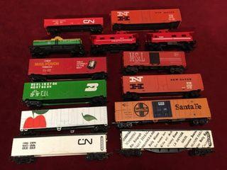 13 HO Rail Cars   2 Need Repair