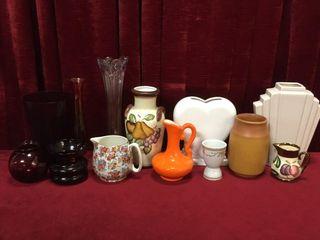 Vases  Pitchers   Ruby Glass Vases