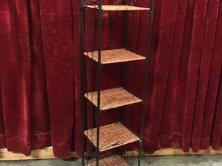 Folding 5 Tier Shelf   11 5  x 9 5  x 52