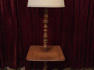 Retro Wood 60  End Table Floor lamp