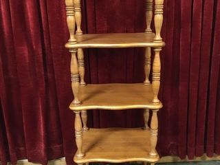 5 Tier Wood Shelf Unit   20 5  x 16  x 60