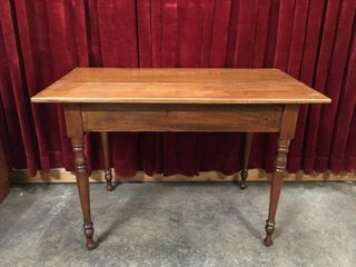 Antique Wood Wall Table   Refinished